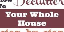 Declutter Me!!! / declutter tips, declutter my home, declutter room, how to declutter, declutter quickly, step by step declutter, organize home, clean up house, keep house clean, remove clutter, tired of mess, get rid of junk, what to throw away, throw junk out