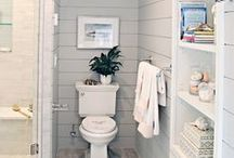 GRAY WHITE BATHROOMS / Three bathrooms in my house are getting much needed makeovers. All DIY, of course.