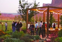 Outdoor Dining by the River and in the Garden / Dine beside the Colorado River, around the bonfire or throw a party in our Garden. / by Sorrel River Ranch Resort & Spa