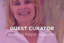 Guest Curator: Brenda Hope Zappitell / Brenda is a self-taught award-winning artist who creates abstract expressionist works as well as a writer for Professional Artist Magazine. As a writer, she has covered topics ranging from selling art in galleries to tips on approaching art as a buyer.