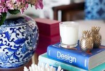 FEELING BLUE AND WHITE / Blue and white ginger jars and vases make wonderful vignettes