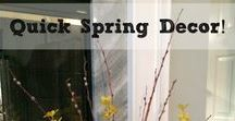 Spring and Easter Decor / Lovely decor ideas to celebrate spring!