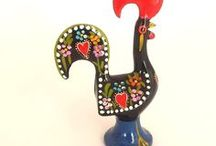 Portugal Barcelos Rooster of Luck / The Legend of the Rooster of Barcelos Portugal: https://en.wikipedia.org/wiki/Rooster_of_Barcelos