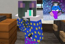 Minecraft skins(made by me or found online by a friend)