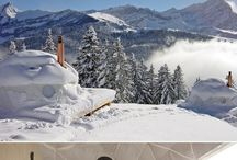 Tempting hotels for skiing / Hotels