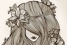 Funky Hair Illustration / by Laura Flagg