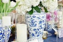 Tablescapes / tabletop floral, candles and other decorative touches