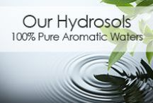 Our Hydrosols - 100% Pure Aromatic Waters / Organic Infusions Hydrosols are powerful aromatic extracts that are produced when plants are steam distilled with pristine purified water by master distillers. These therapeutic waters are infused with beneficial herbal elements and micro-molecules of essential oil. Hydrosols are real aromatic therapy. You can spray hydrosols on your body for both haircare and skincare, as well as a range of other uses.