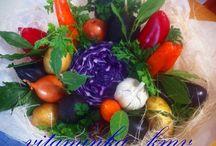 Мои букеты из фруктов и овощей / Съедобный букет,букет,фрукты,овощи
