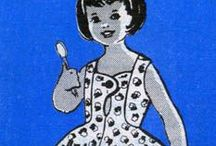 vintage girls sewing patterns / by Mindi B