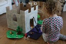 Home made dolls' houses & castles
