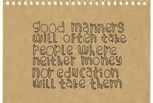 Manners, Public Signs, etc