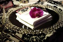 elegant table settings + china