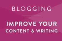 Blogging • Content & Writing / Become a better writer and develop better content as a blogger.