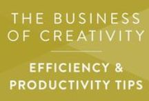 Creative Biz • Productivity / How to stay productive and create efficient habits as a creative or solopreneur.
