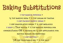 FOOD Substitutes / cooking substitutes