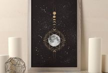 MOON ART PRINTS / Moons, moons and more moons. I created this board for all the moon lovers out there. Whether you are looking for an art print for your space or just looking for moon inspiration, you'll find it here!