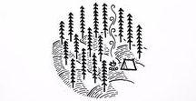 Logo / сбор референсов для кемпинга
