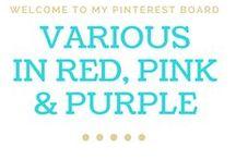 Various in Red, Pink & Purple