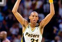 Reggie Miller / One of the all-time NBA greats, Hall of Famer Reggie Miller spent his entire 18-year career with the Indiana Pacers.