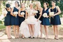 Navy Blue & Gold wedding inspiration board
