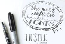 Fonts & Lettering / A collection of some of my favorite fonts and lettering techniques.