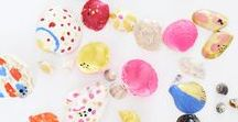 Colorful kids' crafts