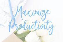 Maximize Productivity / productivity, time management, goals, goal setting, organization, work life balance, career, success, routine
