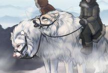Wolf/dog riders