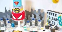 Superhero Party Ideas / Superhero party ideas -- Superhero cakes, decorations, party foods and favors. Shop the Bee Box Parties Superhero Collection at https://beeboxparties.com.au/products/superhero
