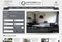 Nos sites Internet immobiliers / Voici quelques sites internet que nous avons réalisés pour nos clients. Les sites marqués 'Dupont Immobilier' sont des modèles de sites proposés aux agences.