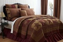 Country & Primitive Inspired Quilted Bedding
