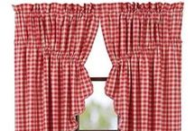 Primitive & Country Inspired Prairie Curtains