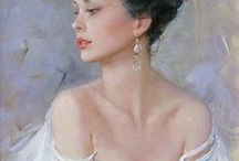 Konstantin Razumov's Sweet & Sexy Impressionism art / I Would Ask You To Pin Respectfully. I'm More Than Happy To Share But Please DON'T Be Greedy ... Up 8 Pins is fine. Board raiders will be Blocked.  Mr Razumov is a contemporary artist so he constantly produces more masterpieces. Some are probably available.