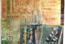 Art - collage tissage broderie