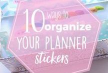 Planner Sticker Organization