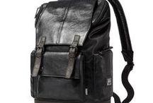 Leather Men Backpack