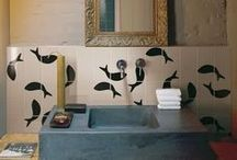 Interiors: happy BATHroom / 'happy' because I like bathroom when they're cosy, warm, or ironic! / by LAUsNOTEbook
