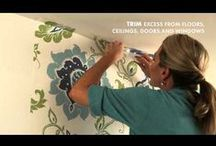 Lessons For Your Walls & Decor / Lessons about decorating your walls, all about wallpaper designs and D.I.Y help.