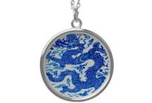 Necklace Charms: Vintage Art on Silver Necklace Charms / Great designs on these heavy, thick, silver-plated pendants. Printed deep in the glossy finish so that it looks like porcelain, with vibrant bright sharp colorful images from vintage postcard art, and modern designs too. GREAT GIFTS! @ http://www.zazzle.com/printtiques