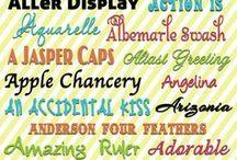 DIY: Fonts