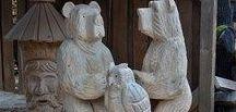 Dřevěné sochy / Nabízíme dřevěné sochy vyřezávané motorovou pilou.