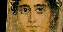 Fayum portraits / Fayum portraits, mummy portraits, ancient paintings