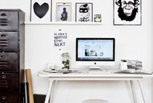 Interior//Lovely workspaces / Home is wherever I'm with you!