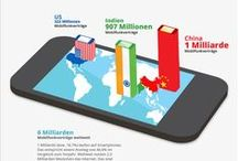 Infografiken / Social Media, Search Engine Optimization, Online-Marketing, Mobile-Marketing, E-Mail-Marketing and Food + Drinks