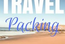 Travel Packing / Travel Packing tips and tricks to help reduce your luggage load.