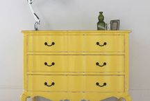 : YELLOW & GREEN painted furniture :