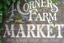 Farm Stand / Inspiration for my farm, farm branding, farm sign, and farm stand at the farmers' market.