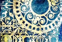 kunst - gelli plate / painting and printing methods  **see: STENCILS BY STENCIL GIRL - pinterest BOARD** / by dMf