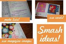 kunst - journal/smash/smash/smash / A NEW CONCEPT: Junk Journal  or  the Unscrapbook / by dMf